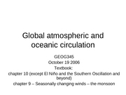 13 Global Atmospheric and Oceanic Circulation