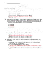 Chapter 11 and 12 Practice Solutions