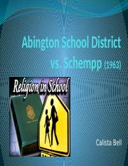 Abington School District vs Schempp.pptx