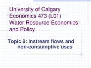 Economics 4473 Topic 8  Instream flows and non-consumptive uses_1