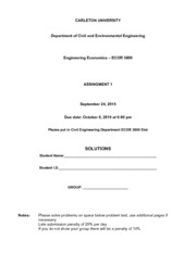 ECOR3800 Assingment 1 Solutions Revised