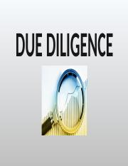 OPERATIONAL-DUE-DILIGENCE