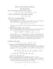 MATH23 Class Exam Solution