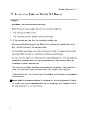 28. Proof of the External World G E Moore