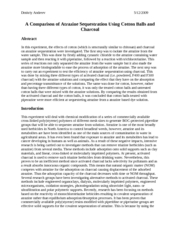 A Comparison of Atrazine Sequestration Using Chitosan and      Charcoal