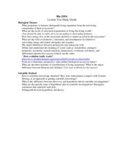 lecture test study guide 1