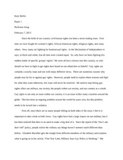 Gay rights position paper