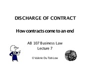 Contract-discharge
