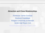 8 Attraction and Close Relationships(2)