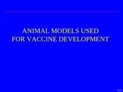 Lecture 7 - Animal Models