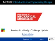 Session 6b - Design Challenge Update