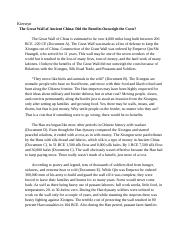Essay Learning English  Pages Great Wall Dbq  Kierstyn Cornwell Article Writers also Assistance With Writing An Argumentative Quotfallquot Of Rome Dbq  Kierstyn Cornwell  Kierstyn   What Is A Thesis In An Essay