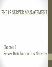 CHAPTER 1 SERVER DISTRIBUTION IN A NETWORK.ppt