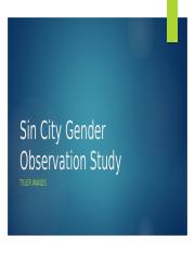 Sin City Gender Observation Study