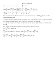 HomeworkWorksheet11Solutions