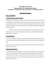 AUDIT II individual Assignment.docx