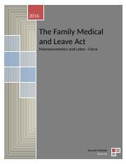 The Family Medical and Leave Act