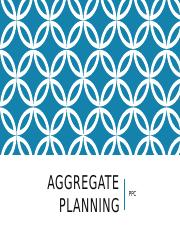 AGGREGATE PLANNING1