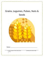 Grains, Legume, Pulses, Nuts and Seeds Workbook.docx