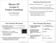 Lec7 Fourier Transforms