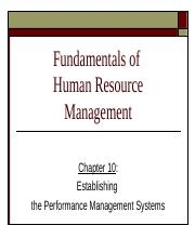 Chapter 10 Performance Mgmt Systems