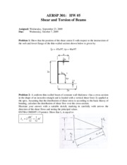 AERSP_301_HW_5_Shear_and_Torsion