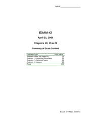 Acc124Exam2Spring2004SOLN1