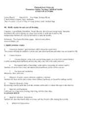 landform lesson plan typed