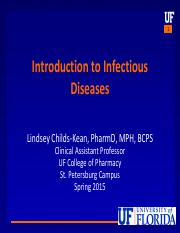 Intro+to+Infectious+Diseases+PTX+I+Childs-Kean+Spring+2015