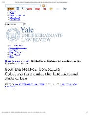 Spot the Hacker_ Combating Cyberwarfare under the International Rule of Law _ Yale Undergraduate Law