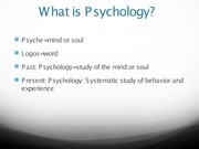 Ch1 What is Psychology