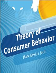 Chapter 5 - Theory of Consumer Behavior 2.pptx