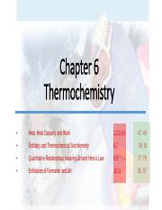 Chapter 6 -Thermochemistry - Blank