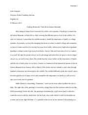 Art Review -- Essay One (Final)