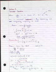 Lecture 3 Seperable Equation