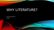Why literature(1)