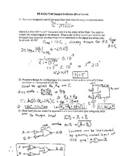 Final Exam Solutions-Transfer Functions+