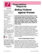 Population Reports_Ending Violence against Women