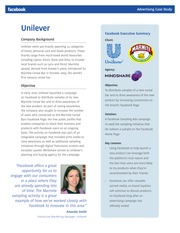Week  11 - Unilever Facebook Case Study