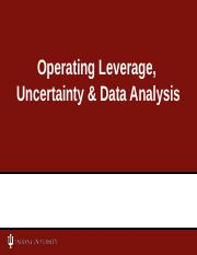 CH03 & 10 - Oper Leverage & Uncertainty-SP17-Answers