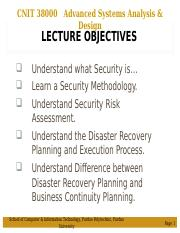 LEC 24 - Pres - Security and Disaster Recovery.ppt