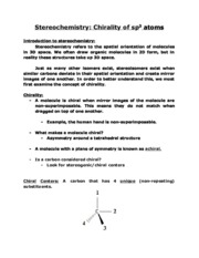 Lecture Notes Lesson 5- Chirality