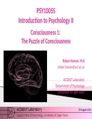 1 puzzle of consciousness