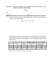 Experiment 6 Temperature variation of the equilibrium constant.pdf