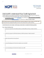 CALCULATE: Understand Your Credit Agreement (#7).docx