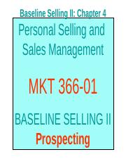 Chapter 4 - Prospecting