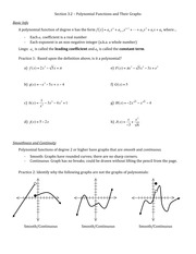 ULC148_3.2 polynomial functions and their graphs