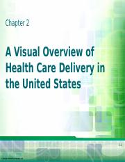 Chapter 2 - Visual Overview of Health Care Delivery