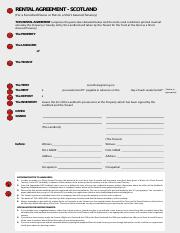 Fd08a Rental Agreement Scotland For A Furnished House Or