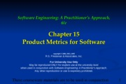 Ch15 Product Metrics for Software
